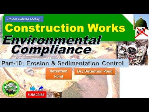 Construction works part-11 esc retention pond environmental compliance