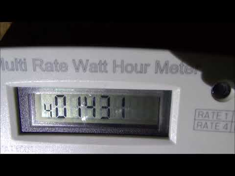 How to read a uk dual rate electricity meter