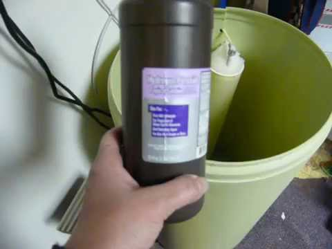 Getting mildew or mold out of water softener salt tank - cleaning tub
